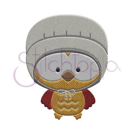 Stitchtopia Owl Pilgrimess Embroidery Design