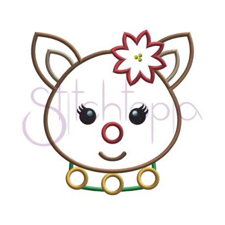 Stitchtopia Reindeer Girl Applique