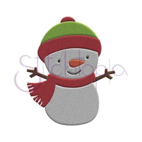 Stitchtopia Snowman Embroidery Design