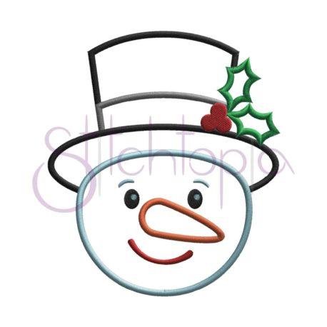 Stitchtopia Snowman Top Hat Applique