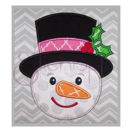 Stitchtopia Snowman Top Hat Applique b