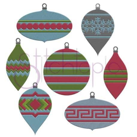 Stitchtopia Christmas Ornament Embroidery Design Set