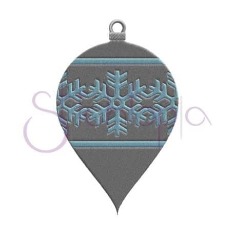 Stitchtopia Christmas Ornament Snowflake Bulb