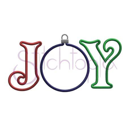 Stitchtopia Joy Ornament Applique