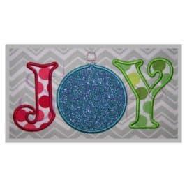 Joy Ornament Applique Design