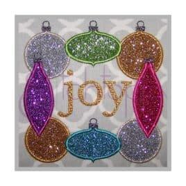 Christmas Ornament Applique Frame