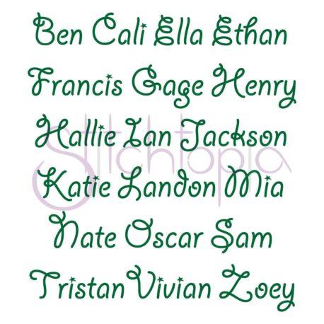 Stitchtopia Austin Monogram Set Names