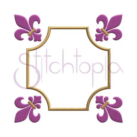 Stitchtopia Fleur de Lis Square Frame