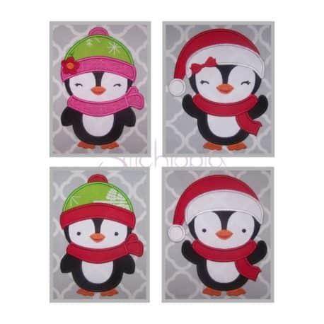 Stitchtopia Penguin Applique Design Set