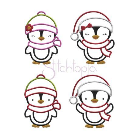 Stitchtopia Penguin Applique Design Set b