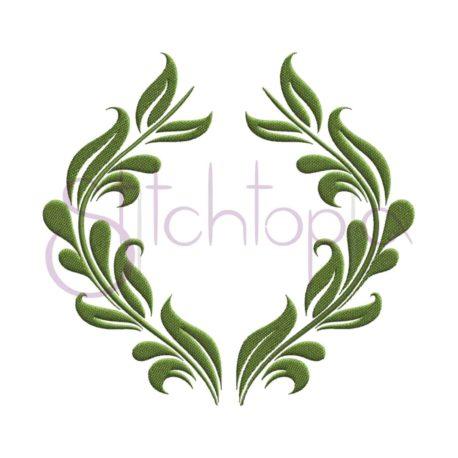 Stitchtopia Vintage Leaves Frame