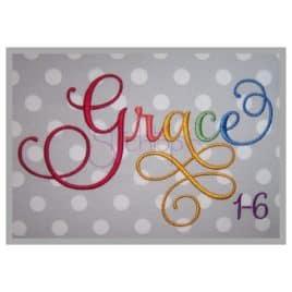 grace machine embroidery font samantha font laura worthington