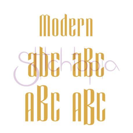 Stitchtopia Modern Monogram Examples