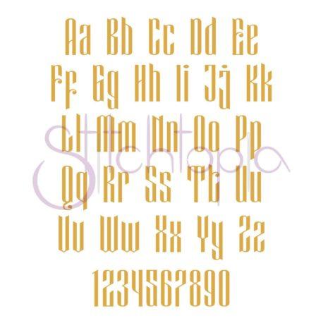 Stitchtopia Modern Monogram Set All Letters