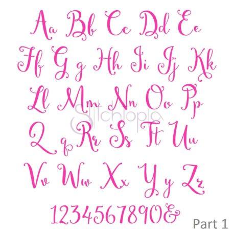 Stitchtopia Secret Garden 1 Embroidery Font Alphabet Set - All Letters