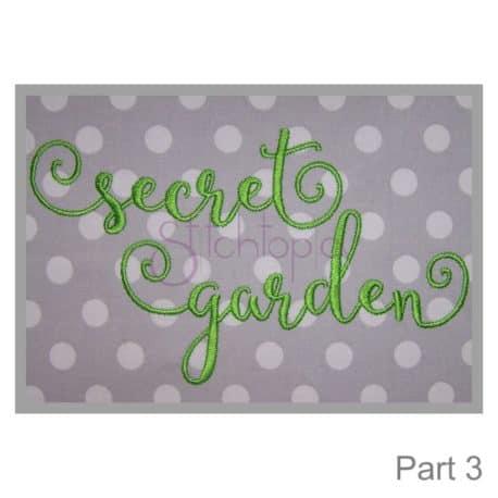 Stitchtopia Secret Garden 3 Embroidery Font Alphabet Set part 3