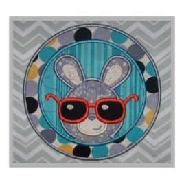 Easter Bunny with Sunglasses Applique Design – Boy