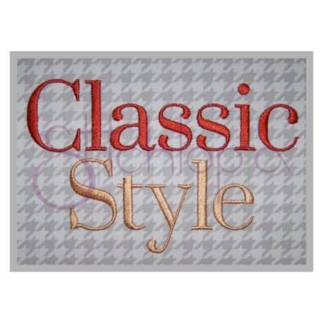 Stitchtopia Classic Style Monogram Set