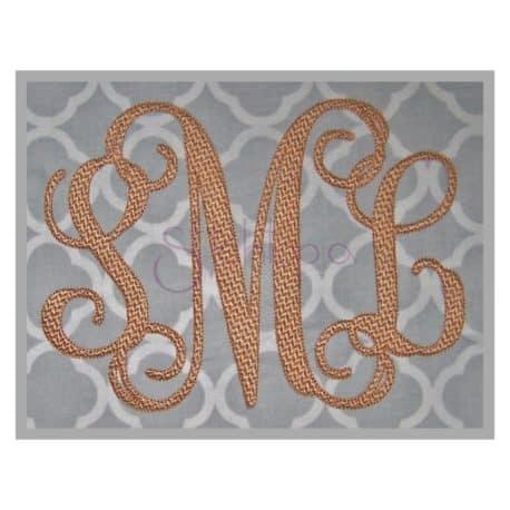 Stitchtopia Vine Monogram Embroidery Font Set - Pattern Fill Stitch b