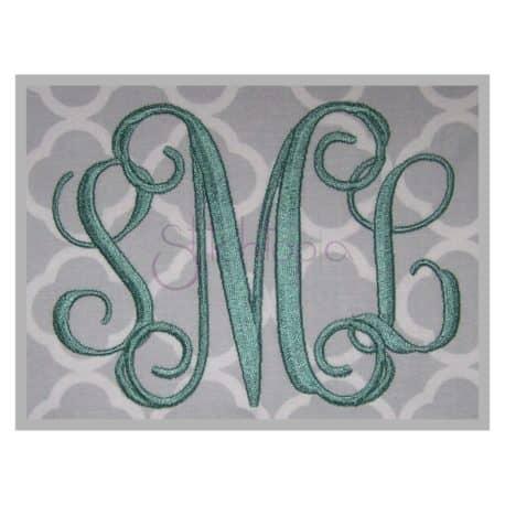 Stitchtopia Vine Monogram Set - Wide Weaved Satin