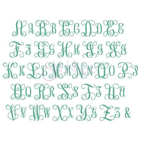 Stitchtopia Vine Monogram Set - Wide Weaved Satin All Letters