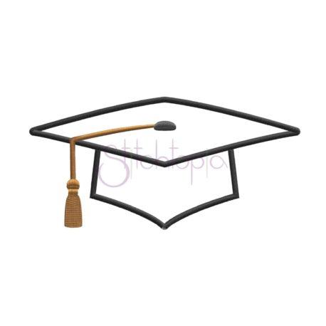 Stitchtopia Graduation Cap Machine Applique Design