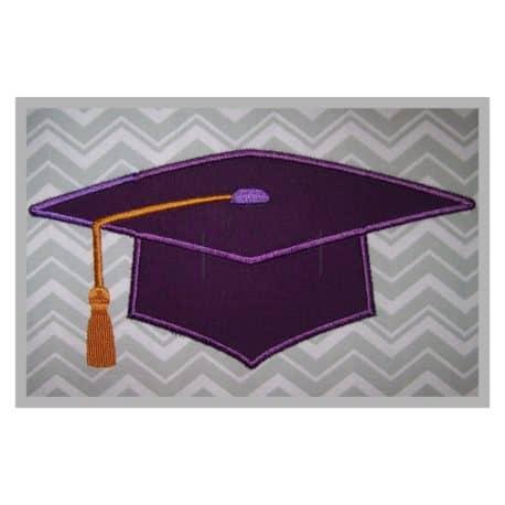 Stitchtopia Graduation Cap Machine Applique Design b