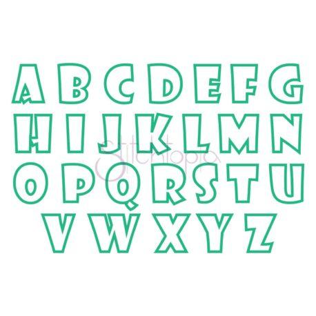 Stitchtopia School Applique Monogram Set Small All Letters