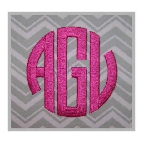 3-letter monogram