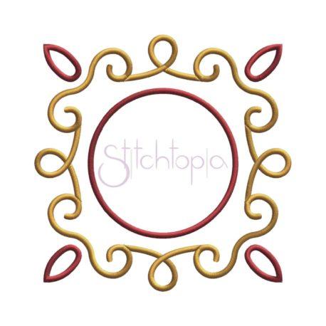 Stitchtopia Circle Curls Applique Frame