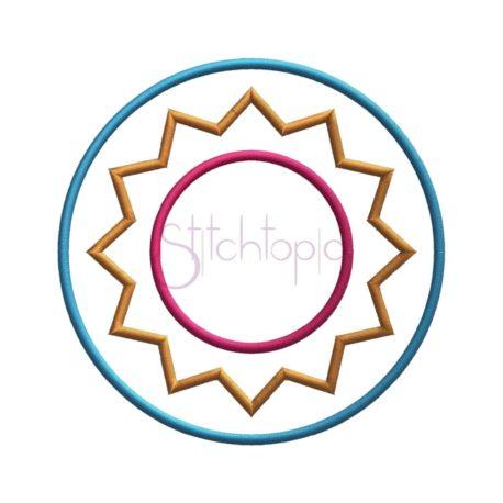 Stitchtopia Circle Sunburst Applique Frame