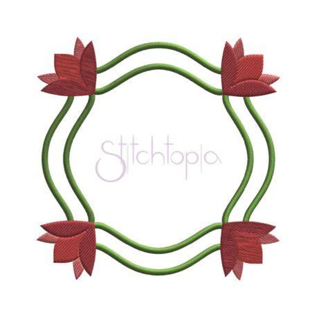 Stitchtopia Flower Applique Frame b