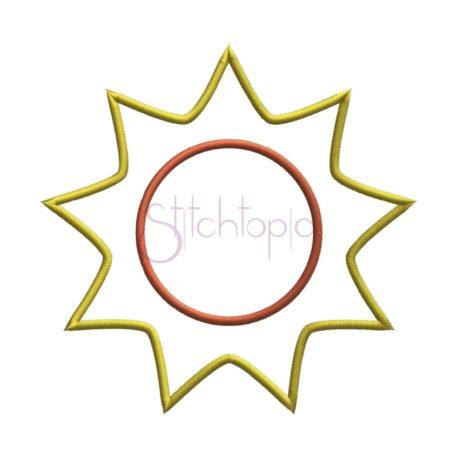 Stitchtopia Sunshine Applique Frame