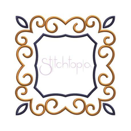 Stitchtopia Swirly Square Applique Frame