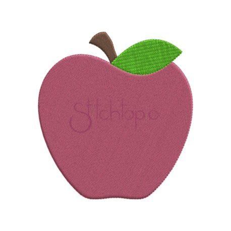 Stitchtopia Apple Embroidery Design T
