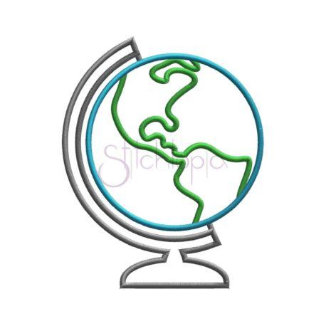 Stitchtopia Globe Applique
