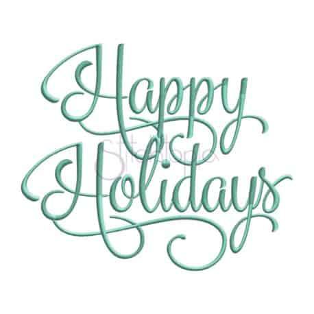 Stitchtopia Happy Holidays Embroidery Design