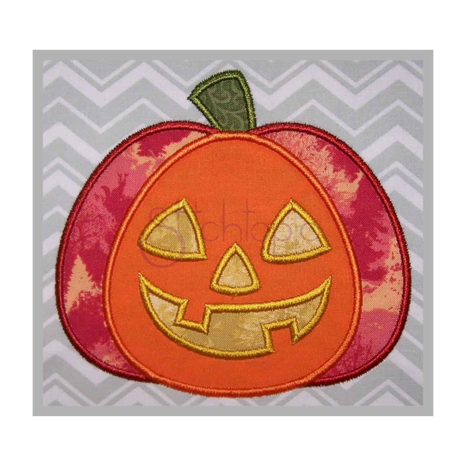 Halloween jack o 39 lantern applique design stitchtopia for Appliques design