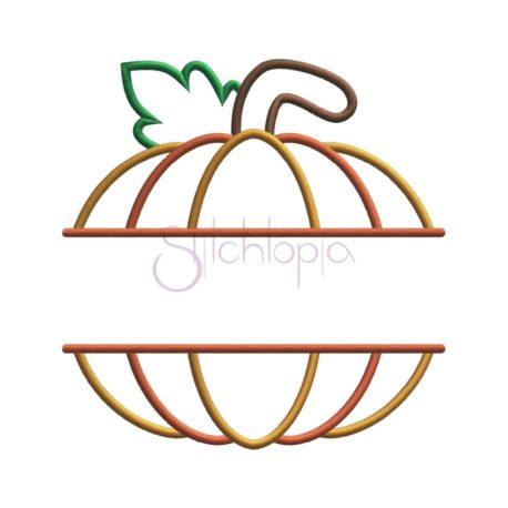 Stitchtopia Pumpkin Applique Split Frame