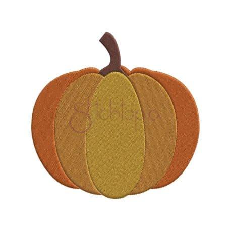 Stitchtopia Pumpkin Embroidery Design