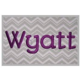 Wyatt Embroidery Font Set – .5″, 1″, 1.5″, 2″, 2.5″