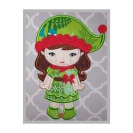 Christmas Elf Applique Design – Girl