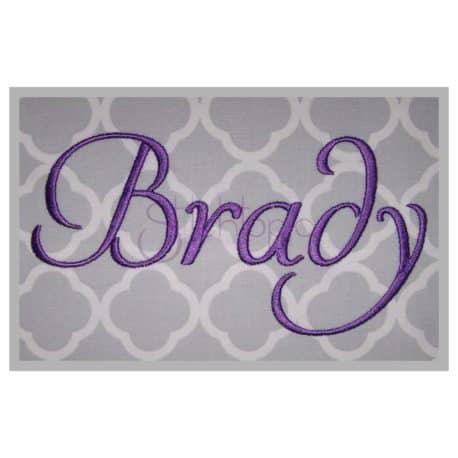 Stitchtopia Brady Embroidery Font