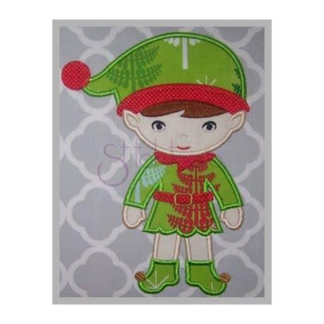 Stitchtopia Christmas Elf Boy Applique Design