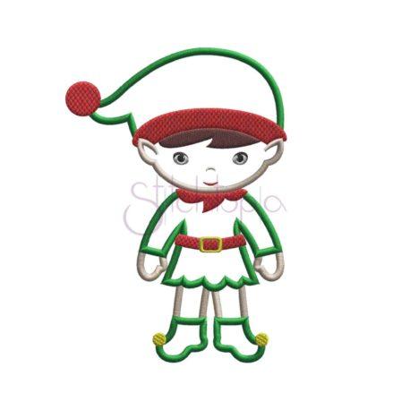 Stitchtopia Christmas Elf Boy Applique b