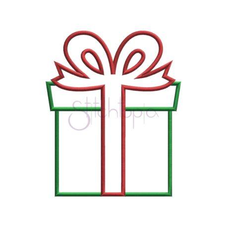 Stitchtopia Christmas Present Applique b