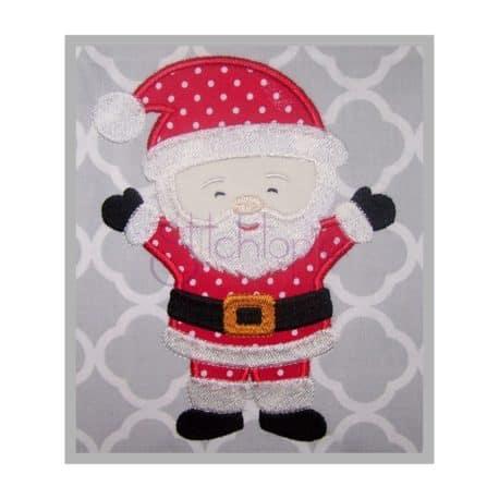Stitchtopia Christmas Santa Applique Design