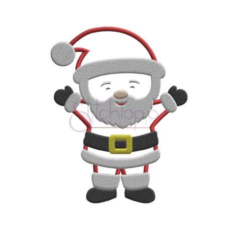 Stitchtopia Christmas Santa Applique Design b