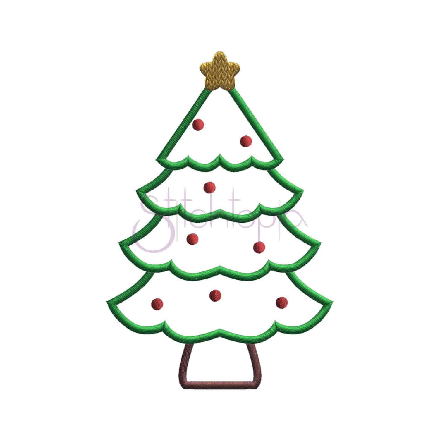 Christmas applique design set stitchtopia for Appliques design