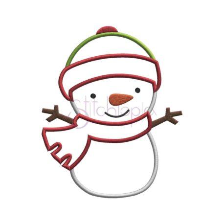 Stitchtopia Snowman Applique b